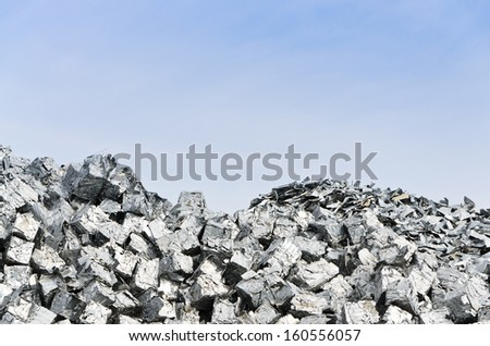 Aluminium  recycling - stock photo