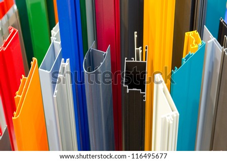 Aluminum bars - stock photo