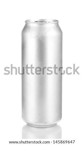 Aluminum can isolated on black - stock photo