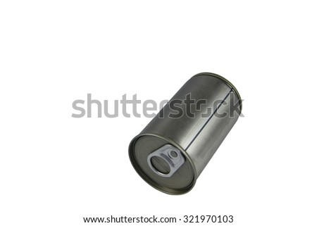 Aluminum can isolated on white and background - stock photo