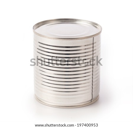 Aluminum can isolated over a white background - stock photo