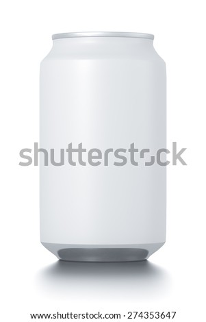 aluminum cans isolated on white. High resolution illustration. - stock photo