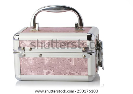 Aluminum Case  isolated on white background with clipping path.  - stock photo