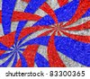 Aluminum foil textured of American patriotic background, Aluminum foil textured of USA flag for USA Independence Day - stock photo