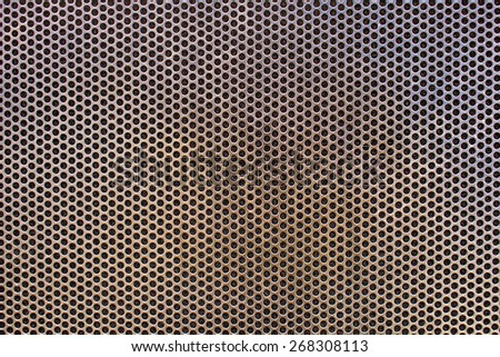 Aluminum grate texture and background - stock photo