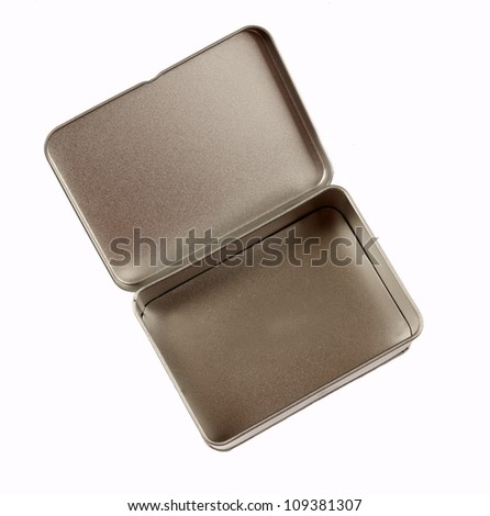 aluminum metal cover - stock photo