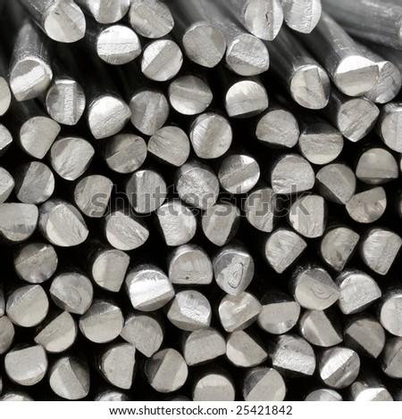 aluminum raw sticks - stock photo