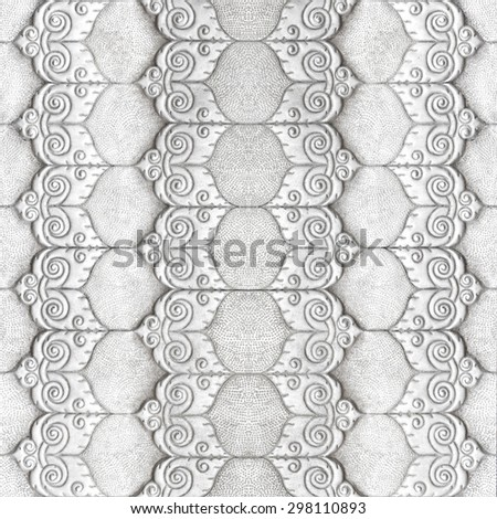 Aluminum Sheet pattern Crafts wall in the temple of thailand Lanna style Chiang Mai, Thailand. - stock photo