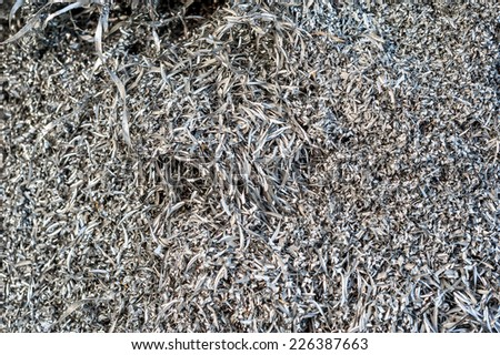 Aluminum swarfs - stock photo