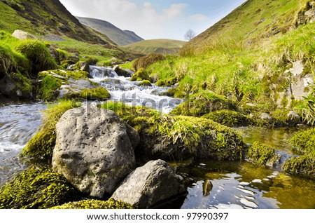 Alva Glen, Idyllic Scottish Landscape - stock photo