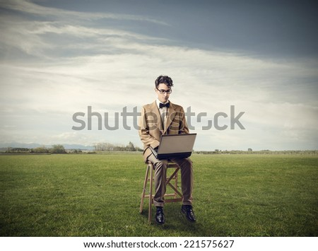 Always at work  - stock photo