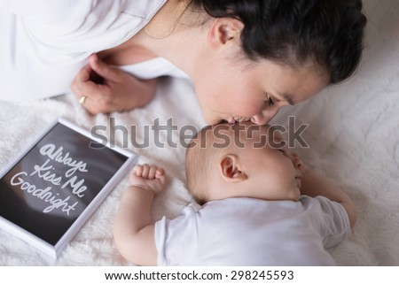 Always Kiss Me Goodnight  - stock photo