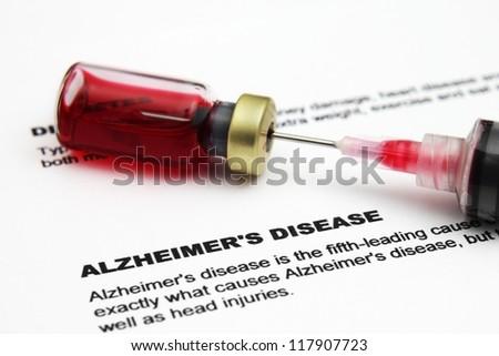 Alzheimer disease - stock photo