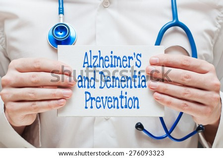 Alzheimer's and Dementia Prevention - stock photo