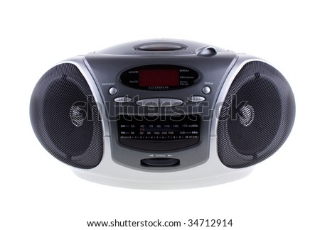 AM/FM programmable compact disc player - stock photo