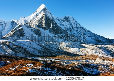 Ama Dablam - trek to Everest base camp - Nepal - stock photo
