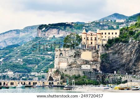 Amalfi coast by Naples, south Italy  - stock photo