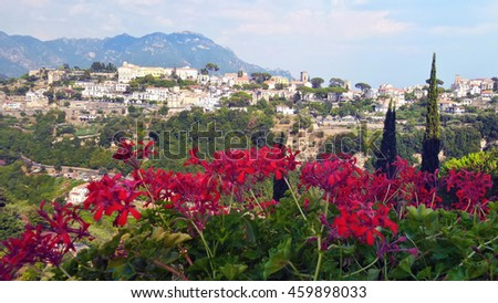 Amalfi Coast, Ravello Italy September 2016 - stock photo