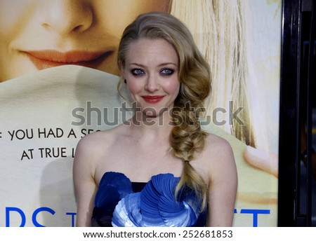"""Amanda Seyfried at the Los Angeles Premiere of """"Letters To Juliet"""" held at the Grauman's Chinese Theater in Hollywood, California, United States on May 11, 2010. - stock photo"""