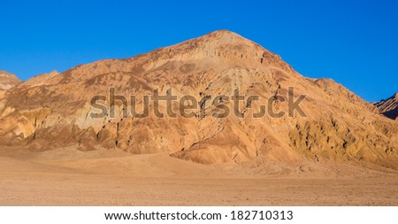 Amargosa Range is a mountain range in Inyo County, California - stock photo