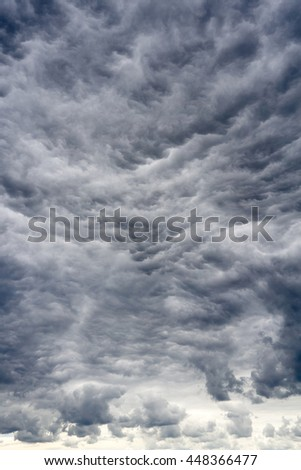 Amazing apocalyptic clouds before a storm - stock photo