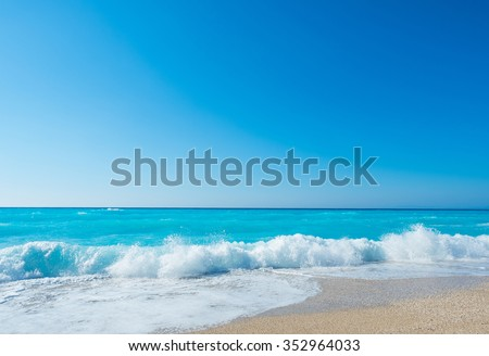 Amazing beach in Greece - stock photo