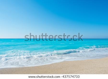 Amazing beach in Greece - stock photo