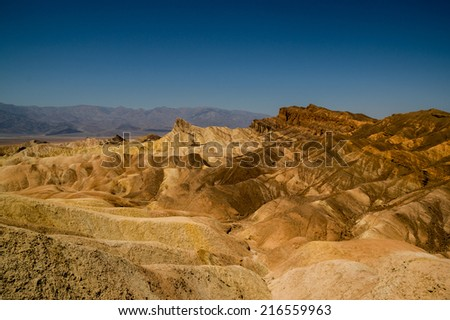 amazing eroded ridges in death valley national park - stock photo