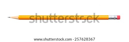 Amazing isolated pencil on pure white background - stock photo