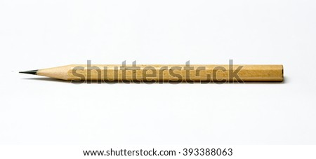 Amazing isolated pencil on pure white background - stock photo