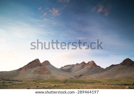amazing mountains in the anti atlas, morocco landscape - stock photo
