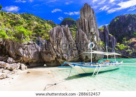 amazing Philippines islands, El Nido. Palawan - stock photo