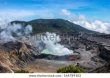 Amazing Poas Volcan in Costa Rica - stock photo