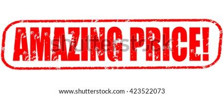 amazing price! stamp on white background. - stock photo