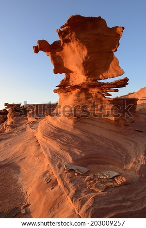 Amazing rock formations of sand stones in Gold Butte, Nevada. - stock photo