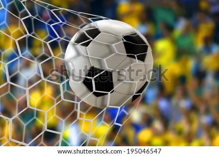 Amazing soccer goal - stock photo