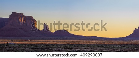 Amazing Sunrise Image of Monument Valley - stock photo