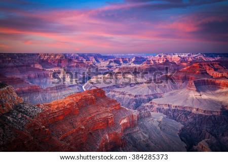 Amazing Sunrise Image of the Grand Canyon   - stock photo