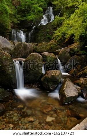 Amazing Torc Waterfall, in Killarney National Park, Ireland  - stock photo