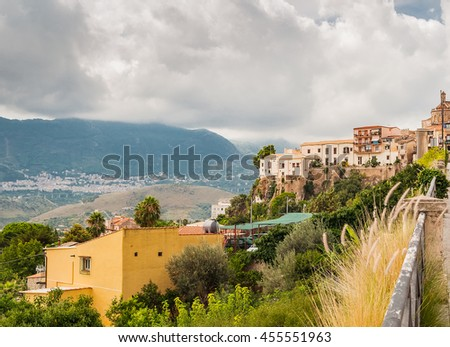 Amazing view on the city of Monreale near Palermo in Sicily, Italy - stock photo