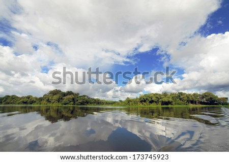 Amazon River, Manaus, Brazil - stock photo