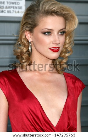 Amber Heard at the 10th Annual Young Hollywood Awards   Presented by Hollywood Life Magazine Avalon Los Angeles,  CA April 27, 2008 - stock photo