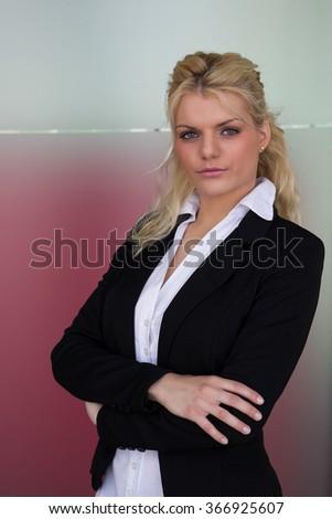 Ambitious businesswoman  - stock photo