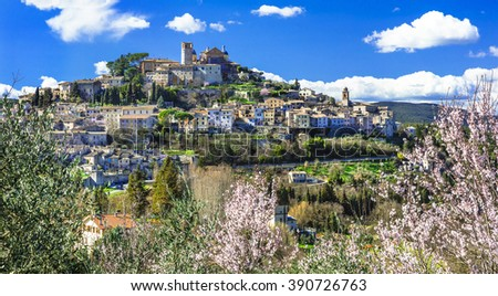 Amelia - beautiful village in Umbria, Italy - stock photo