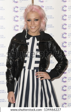 Amelia Lily arriving at the James' Jog fundraising event for Cancer Relief, Kensington, London. 03/04/2013 Picture by: Simon Burchell - stock photo