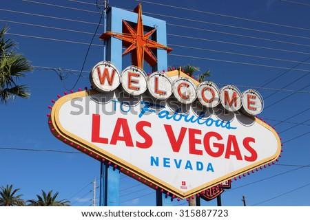 America,American,Nevada,Welcome to Never Sleep city Las Vegas - stock photo