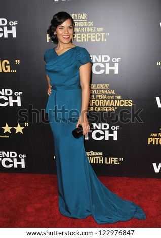 """America Ferrera at the premiere of her movie """"End of Watch"""" at the Regal Cinemas LA Live. September 17, 2012  Los Angeles, CA Picture: Paul Smith - stock photo"""