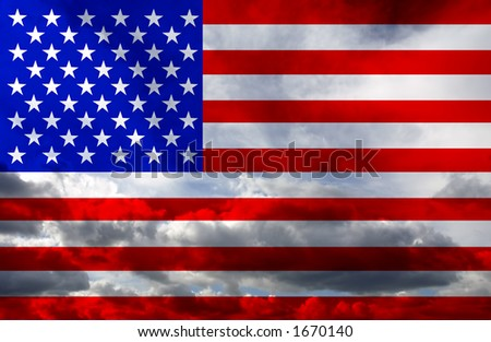 america flag - stock photo