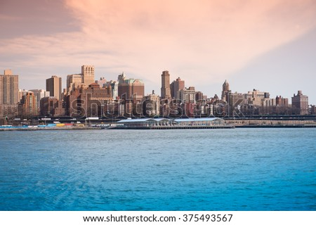 America the beautiful views of New York - stock photo