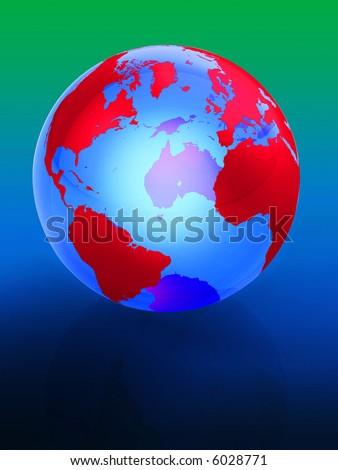 America, USA, canada, atlantic, ocean, argentina, mexico, brazil, UK, england, spain, france, union, - stock photo
